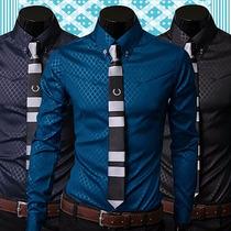 Camisa Masculina Slim Fit Luxo Importada