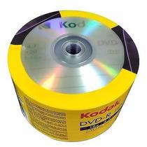 50 Midia Dvd-r Virgem Kodak C/logo 16x 4.7gb Original