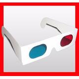 Lentes 3d Anteojos Gafas Tv Rojo Cyan / 10 Unidades