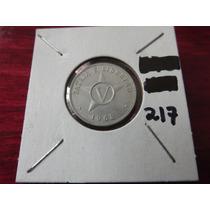 #217 Moneda Del Mundo Cuba 1968 Cinco Centavos Aluminio