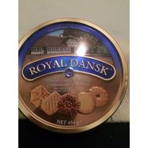 Antigua Lata De Galletitas Royal Dansk Butter Cookies Vacia