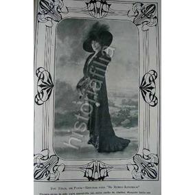 Foto Grabado Antiguo 1910 De Felix Miret Abrigo / Modas