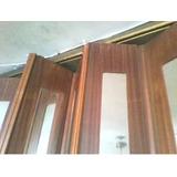 Puerta Plegable Corrediza Con Espejos De Ambos Lados