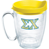 Tervis Sigma Chi Fraternity Mug With Travel Lid, 16 Oz, Clea