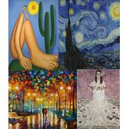 Kit 03 Poster Gogh Miro Tarsila Klimt Monet Dali Portinari