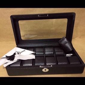 Estojo Caixa Box Para Relógios, Fibra De Carbono 12