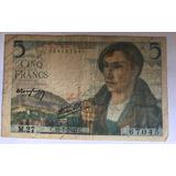 Billete $ 5 Francos Banco De Francia 1943 Envió Gratis