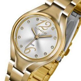 Relogio Lince Feminino Dourado Fashion Wr 50 Metros Lrgj057l