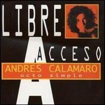 Andres Calamaro Cd Acto Simple Caja Acrilica + Cd Single