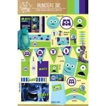 Kit Imprimible Personalizado Monsters Inc Candy Bar Deco!