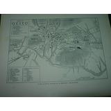 Mapa Antiguo Plano Blanco Negro Quito Ecuador Mapas Planos