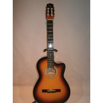 Guitarra Acustica De Paracho Sunburst Tipo Requinto