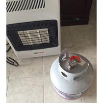 Calefactor De Gas Lp Macon, 3 Niveles Potencia Y Tanque Gas