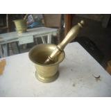 Lamonica Antiguo Mortero Bronce 11 Cm. Macizo Con Pilon 24 C