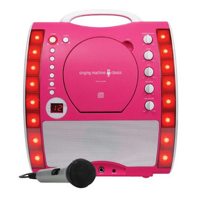 Singing Machine - Sistema De Karaoke Clásico Cd + G - Rosa