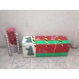Arbol Navidad 2mts + Bolas 2 Colores + Pie De Arbol Intacto