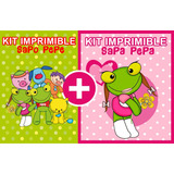 Kit Imprimible 2x1 Sapo Pepe Y Amigos Y Sapa Pepa, Candybar