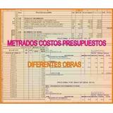 Costos Metrados Presupuestos Diferentes Obras 30 Soles