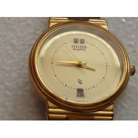 Reloj Citizen Vintage Cuarzo Fechador A Las 6 Caja Chica 14k