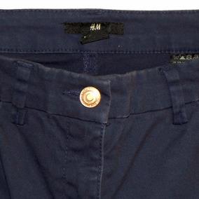 Pantalón Elastizado Jean Slim H Y M Color Azul Petróleo #roa