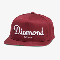 Boné Diamond Supply Co Champagne Burgundy - Snapback