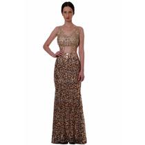 Vestido De Festa Roupa Feminina Paete E Renda Casamento