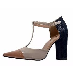 Sapato Feminino Salto Alto Grosso Dom & Amazona Cód 131
