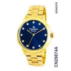 c78d2087166 Relogio Feminino Bronze Fundo Azul - Relógios De Pulso no Mercado ...
