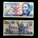 Billete 20 Nuevos Pesos Juarez Papel Buena Condicion