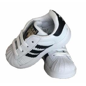 Tenis adidas Bebe Superstar Infantil Niño Niña 11 12 13 14
