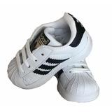 Tenis Bebe adidas Superstar Infantil Niño Niña 11 12 13 14