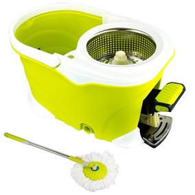 Balde Spin Mop 360 Inox Com Pedal Alumínio Completo