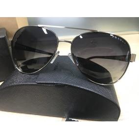Blue Aviator Sun Oculos Prada Sport Sps 58n 5av 8z1 Gunmetal ... 6b605a0186