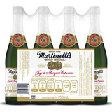 4 Botellas De 750ml De Jugo Espumoso De Manzana Martinellis