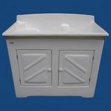 Tanque Lavar Roupas Fibra Duplo 2x30 Litros Gabinete Difibra
