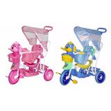 Triciclo Infantil 3x1 Carrinho De Bebe Pedalar Empurrar Luz