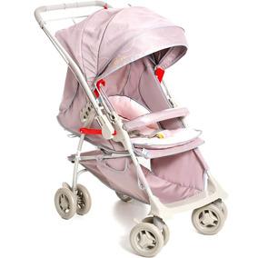 Carrinho De Bebê Maranello Cinza Rosa Galzerano