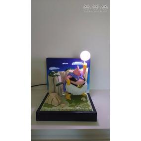 Luminária Abajur - Diorama + Boneco Majin Boo