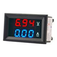 Voltimetro Amperimetro Dc 100 V 10a Display Rojo Y Azul