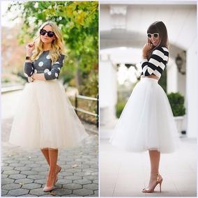 Falda Tul Unitalla Tutu Moda Japonesa Coreana Envio Blanca