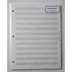 Paquete De Hojas Pautadas Para Carpeta Tamaño Carta