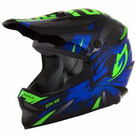 Capacete De Criança Motocross Endure Infantil Ck-01 - Azul