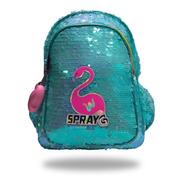 Mochila Flamingo Spray G Lentejuelas Mod 6077