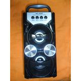 Caixa Som Bluetooth Usb Amplificada Mp3 Fm Mini Sd Ms-209bt