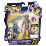 Muñeco Avengers Rocket Raccoon & Groot 15cm E0563 Hasbro