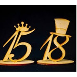 25 Numeros 15 O 18 En Fibro Facil P/pintar Gibrear Souvenirs