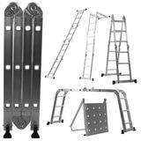 Escada 4x3 Articulada Multifuncional Alumínio + Bandeija
