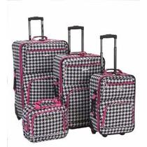 Set Kit De 4 Maletas Rockland Equipaje Viaje Viajar Importad