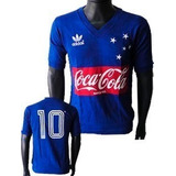 Camisa Vintage Retrô Cruzeiro 1987 Coca Cola Blusa Camiseta