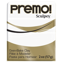 Premo Sculpey Polymer Clay 2 Ounces-white